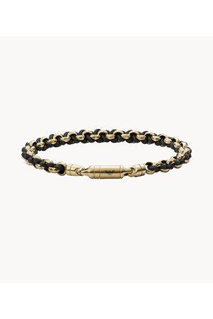 Mens Men Bracelets - Emporio Armani Men's Antique -Tone Chain-Link Bracelet