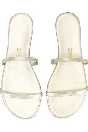 Tkees Women Sandals - Gemma Sandal in Metallic Silver.