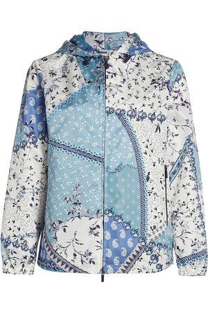 Etro Women Jackets - Women's Paisley Patchwork-Print Hooded Jacket - - Size 4