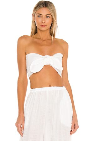 Just BEE Queen Women Strapless Tops - Lola Bandeau in Ivory.
