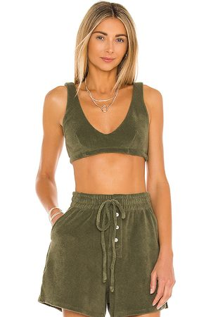 Donni. Terry Bralette in Olive.