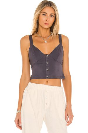 House of Harlow X REVOLVE Taza Tank in Charcoal.