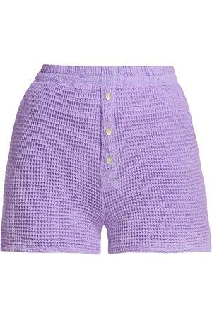 Donni Women's Waffle Knit Shorts - Lilac - Size XS