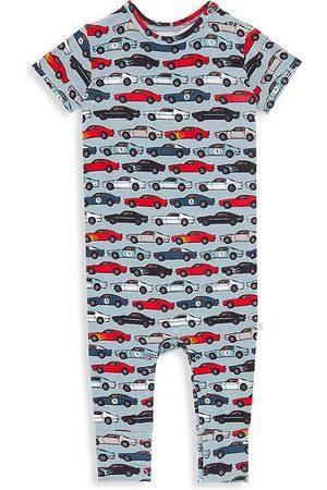 Posh Peanut Jumpsuits - Baby Boy's Miles Car Print Short-Sleeve Jumpsuit - Size 9 Months
