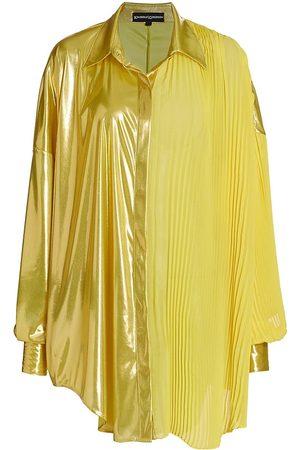 Kimberly Goldson Women Tunics - Women's Honesty Metallic Tunic - Lemonade - Size XS