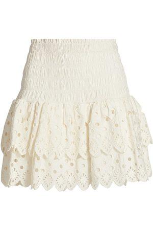 SEA Women Mini Skirts - Women's Smocked Mini Skirt - - Size Medium