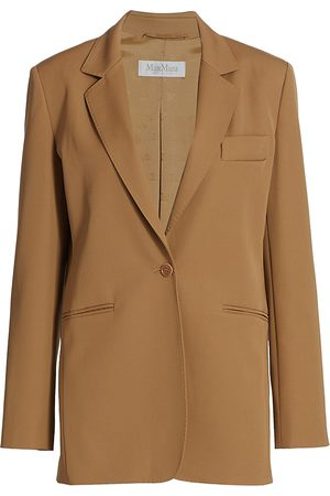 Max Mara Women's Accorta Single-Breasted Wool Jacket - Camel - Size 2