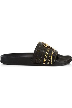 Giuseppe Zanotti Men's Sport Leather Pool Slides - - Size 8 Sandals