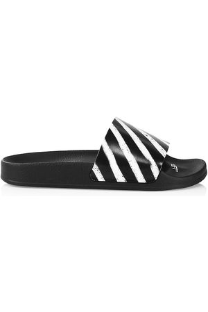 OFF-WHITE Men Sandals - Men's Spray Stripes Slide Sandals - - Size 6
