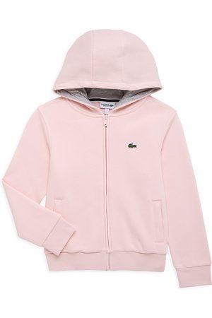 Lacoste Girls Hoodies - Little Girl's & Girl's Sport Tennis Zip-Up Sweater - Light - Size 10