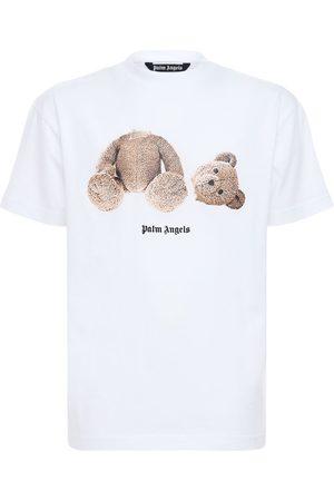 Palm Angels Bear Print Over Cotton Jersey T-shirt