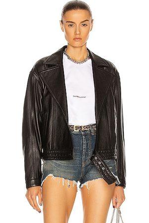 Saint Laurent Oversize Leather Jacket in