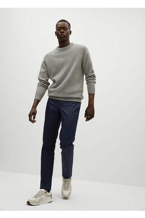 MANGO Slim fit serge chino trousers