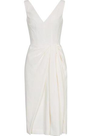 Alexander McQueen V-neck midi dress