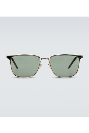 Saint Laurent Square-framed metal sunglasses