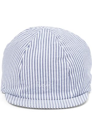 Il gufo Striped cotton baseball cap