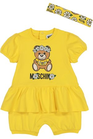 Moschino Baby stretch-cotton bodysuit and headband set