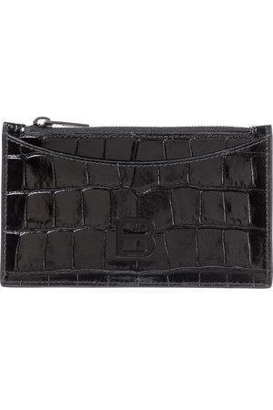 Balenciaga Hourglass croc-effect leather cardholder