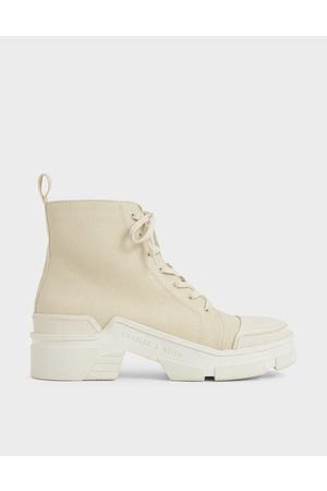 CHARLES & KEITH Women Sneakers - Canvas High Top Sneakers