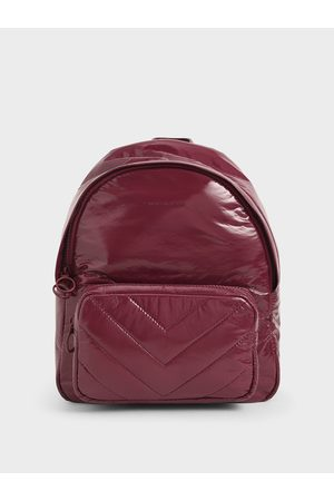 CHARLES & KEITH Quilted Double Zip Backpack