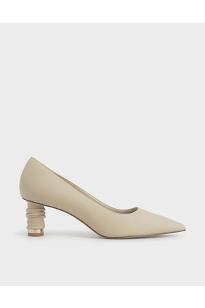 CHARLES & KEITH Cylindrical Heel Pointed Toe Pumps