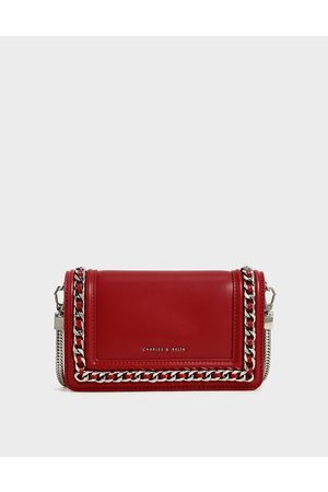CHARLES & KEITH Chain-Trimmed Clutch
