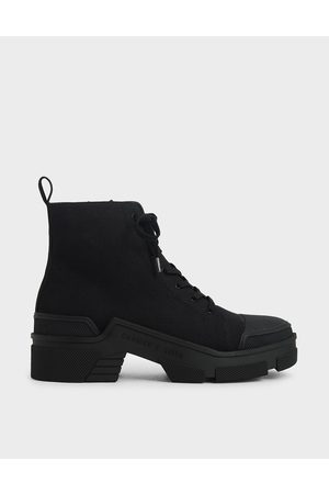 CHARLES & KEITH Canvas High Top Sneakers