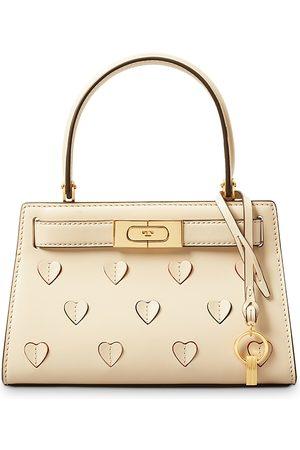 Tory Burch Lee Radziwill Small Applique Leather Handbag