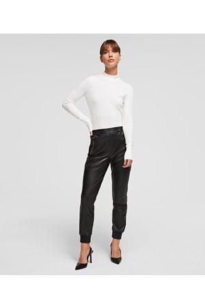 Karl Lagerfeld Women Sweatpants - FAUX LEATHER JOGGERS