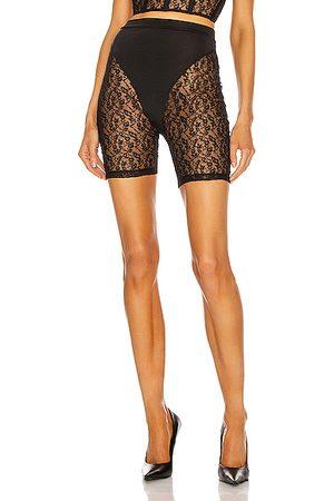 LAQUAN SMITH Women Shorts - For FWRD Lace Biker Short in