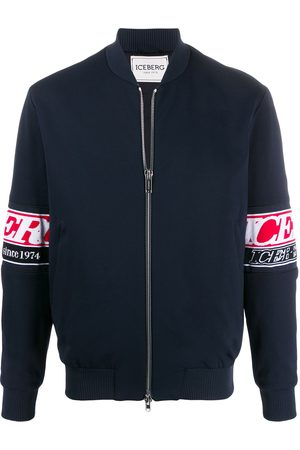 Iceberg Men Bomber Jackets - Sleeve-logo bomber jacket
