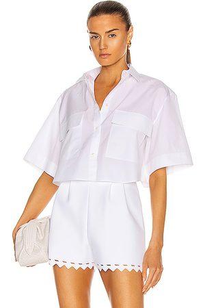 Alaïa Women Short sleeves - Cotton Poplin Short Sleeve Blouse in