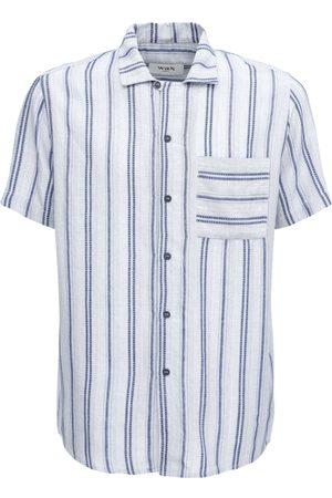 Wax London Fazely Basket Weave Cotton Shirt