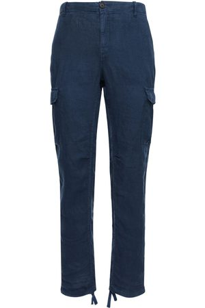 Wax London Brick Linen Cargo Pants