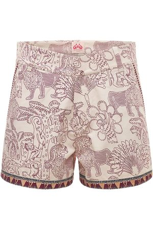 LE SIRENUSE, POSITANO Printed Cotton Drill Shorts