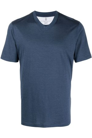 Brunello Cucinelli V-neck short-sleeve T-shirt