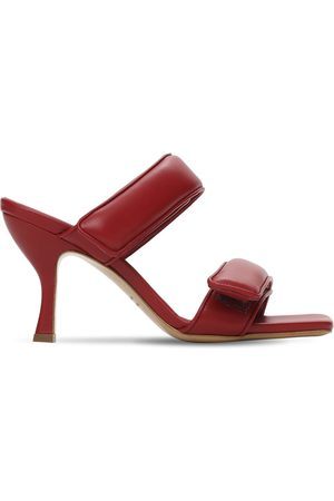 GIA 80mm Padded Leather Strappy Sandals