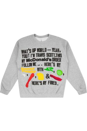 Travis Scott Astroworld X McDonald's Cactus Jack Script sweatshirt - Grey