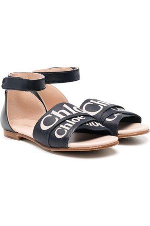 Chloé Logo print strap sandals