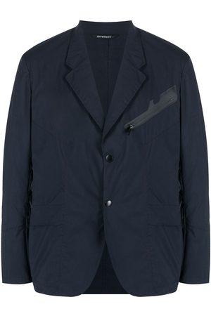Givenchy Men Blazers - Zip-pocket single-breasted blazer