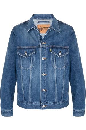 DOUBLET Men Denim Jackets - Graphic print denim jacket