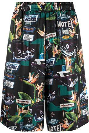 Givenchy Car print straight-leg shorts