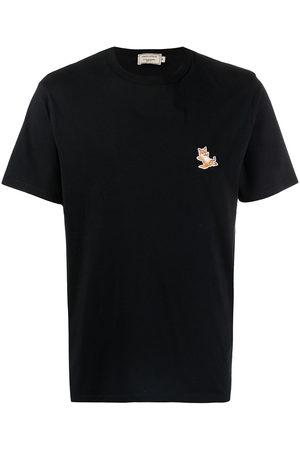 Maison Kitsuné Men Short Sleeve - Logo-print short-sleeved T-shirt