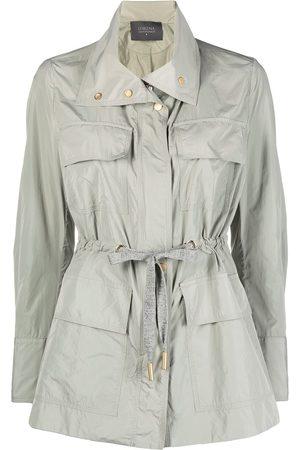 LORENA ANTONIAZZI Tie-waist windbreaker jacket - Grey