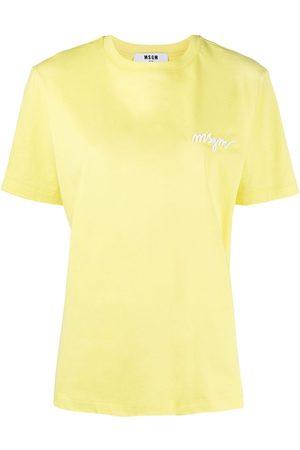 Msgm Women Short Sleeve - Logo-print short-sleeve T-shirt