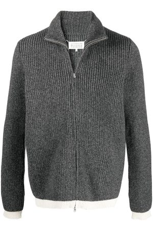 Maison Margiela Ribbed zip-up fleece - Grey