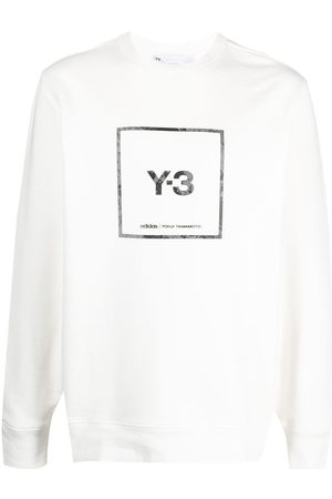 Y-3 Logo-print cotton sweatshirt