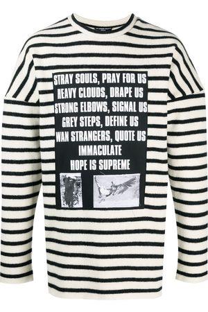 RAF SIMONS Men Sweatshirts - Striped graphic-print jumper
