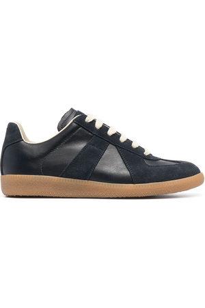 Maison Margiela Women Sneakers - Suede-trim low-top sneakers