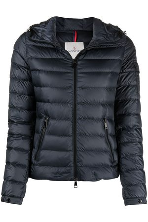 Moncler Zip-front hooded puffer jacket